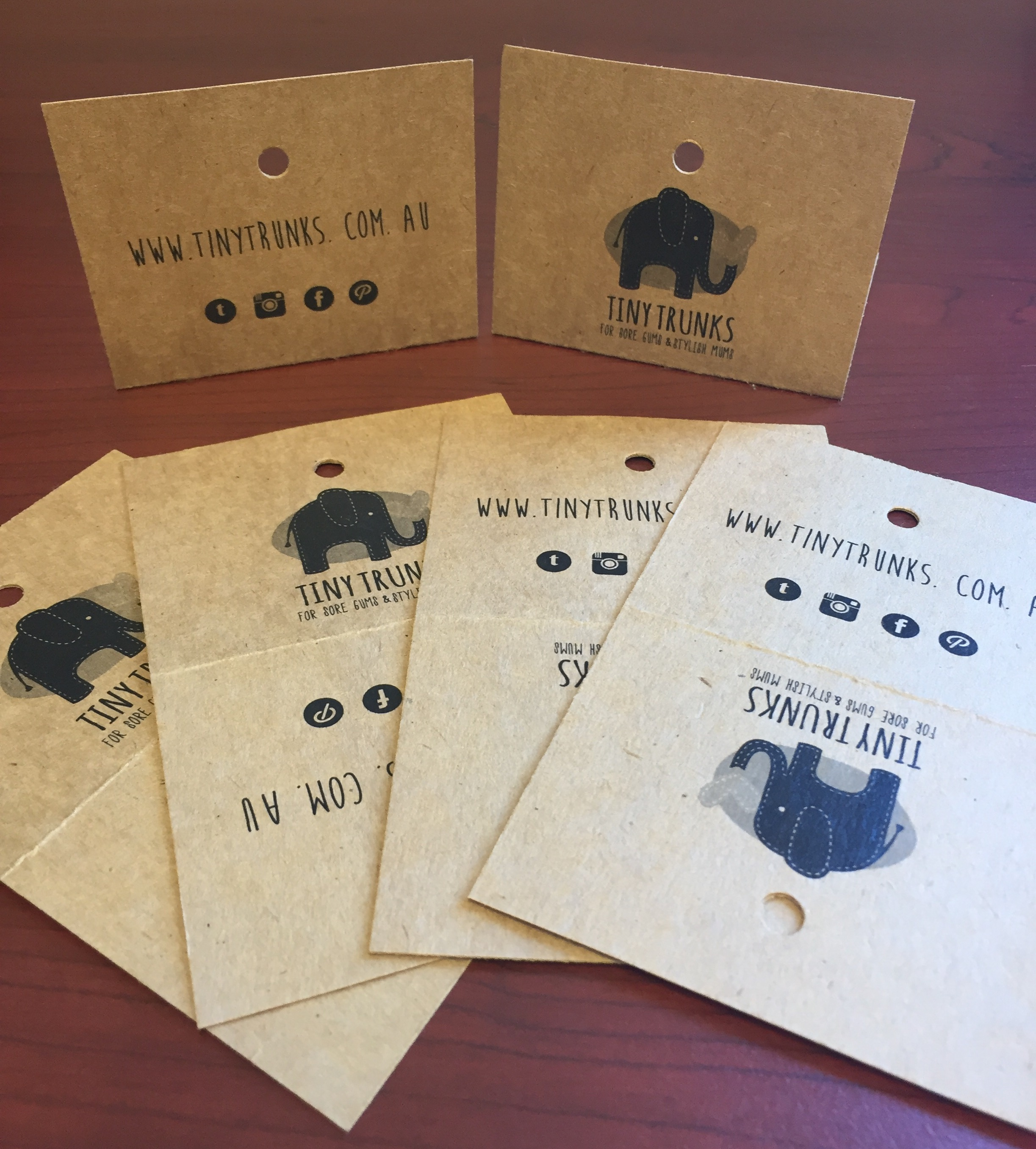 Swing Tags by Eclipse Screen Printing, Australia